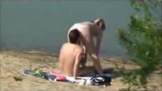 Paar denkt sie sind alleine während des Ficks