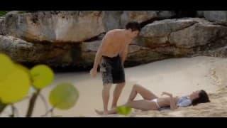 Ficken am Strand mit einem jungen Paar