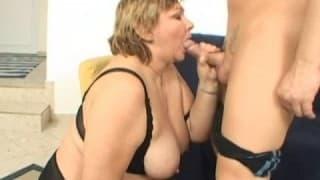 Eine fette Frau für einen Riesenpimmel