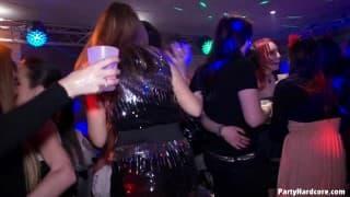 Heißes Blasen im Nachtclub