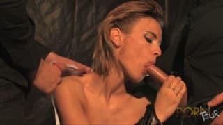 Claire Castel- französischer Pornostar Dreier