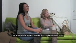 Angelica und ihre Freundin beim Pornocasting