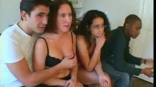 Französischer Gruppensex mit Schwarzen