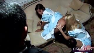 Donna Bell & Black Angelika blasen viel!