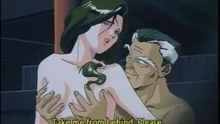 Ein Monster fickt 2 Hentai-Girls