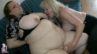Diese zwei Omas sind notgeile Lesben
