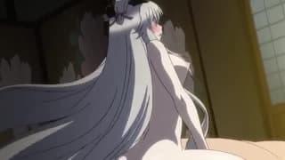 Ein junges Hentai-Paar genießt ein Experiment