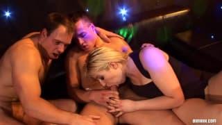 Eine große Orgie mit einer Gruppe Bisexueller
