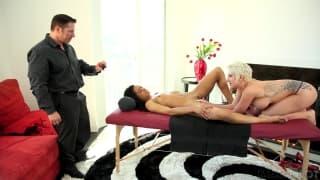 Ein heißes Video zwischen drei Pornostars!