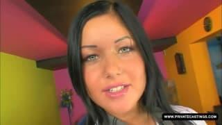 Angelica Heart bei ihrem ersten Pornocasting