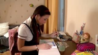 Marizza ist eine notgeile junge Studentin