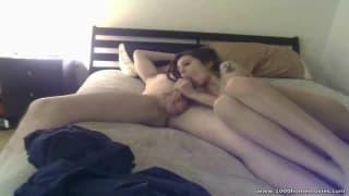 Dieses Paar ist notgeil zusammen im Bett