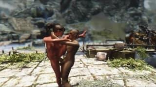 Transsexuelle ficken in einem Videospiel