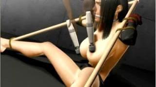 Hentai Bondage Szene mit brünetter Schlampe
