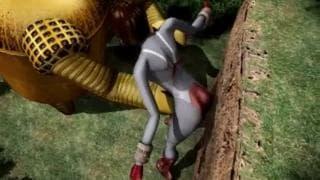 Hentai, ein Mädchen wird vom Roboter gevögelt