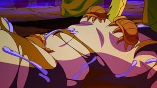 Ghostbuster-MILFs ficken einen paranormalen Typen, bevor sie ihn aussperren